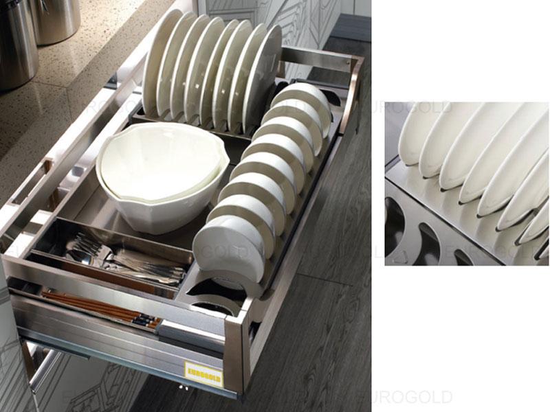 Giá bát đĩa hộp âm tủ Eurogold EU133600