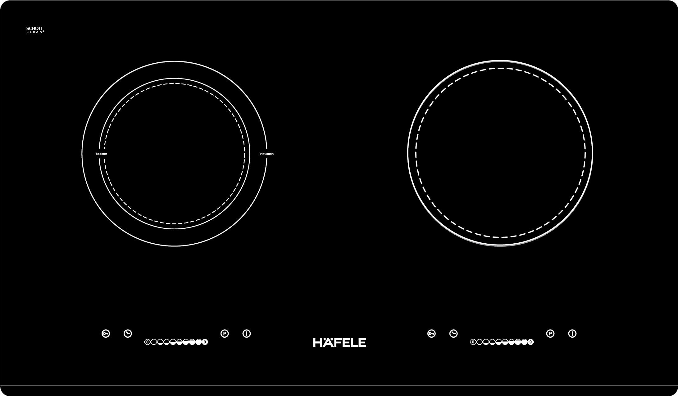 Bếp từ kết hợp điện Hafele HC-M772C 536.61.565