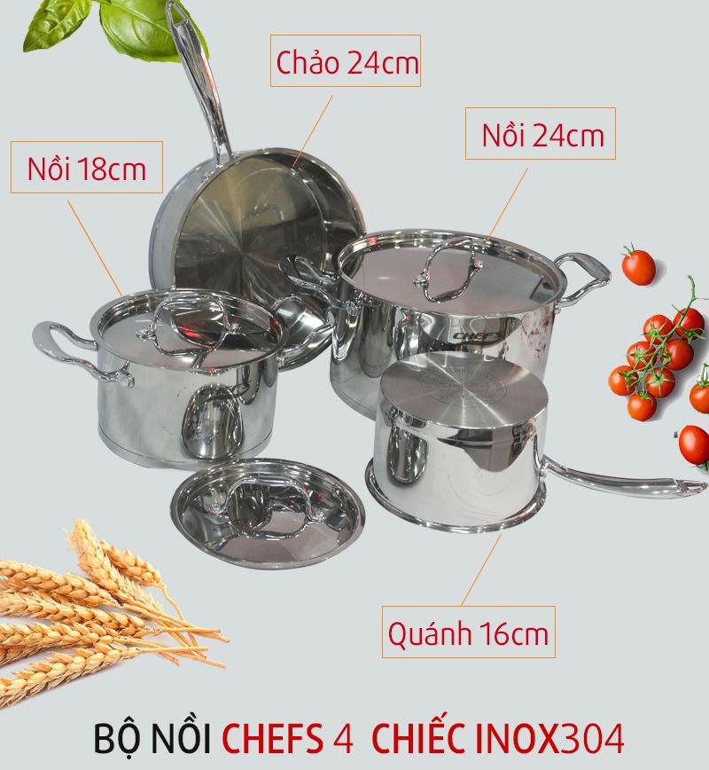 Bộ nồi Chefs EH CW4430N
