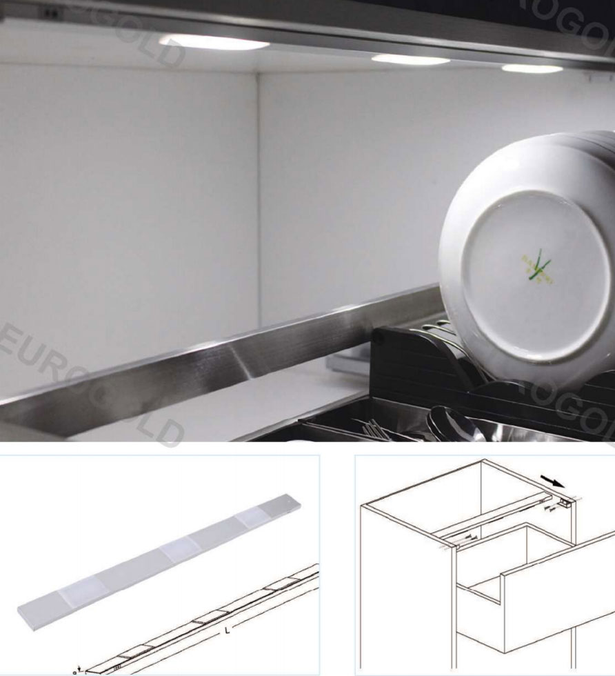 Đèn led tủ Eurogold EUD6560