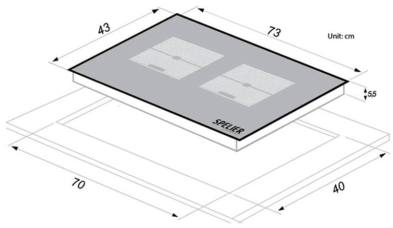 kích thước Bếp từ Spelier SPM 989 QV